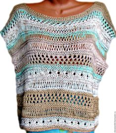 Items similar to Crochet sleeveless blouse on Etsy Free Knitting, Knitting Patterns, Crochet Patterns, Crochet Blouse, Knit Crochet, Diy Crafts Crochet, Mode Crochet, Loose Knit Sweaters, How To Start Knitting