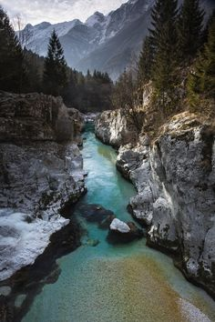 visitheworld:    Soča River Gorge in Triglav National Park, Slovenia.    The Vale