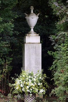 CLOSE UP OF DIANA'S MONUMENT IN HONOR OF HER LIFE & DEATH ON HER FAMILY'S PROPERTY ALTHOP