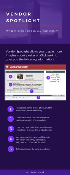 Saturday Biz Tip: What Can You Find in Vendor Spotlight?