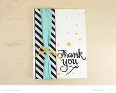 The One With ALL The Ribbon by carissawiley at @studio_calico - thank you card
