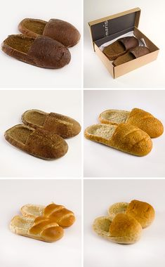 Bread Shoes.  OH PLEASE FOR THE LOVE OF ALL THAT IS GOOD, PINTEREST, YOU'VE TAKEN DIY TOO FAR.Lizzy...