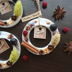 Halloweenタグを外して今度はX'masの飾り付けに再利用できるようにしてみました(▼w▼)限定8個で終了です♬ #chubby_round #handmade#natural#materials #aroma#sachet#aromabar #essentialoil#botanical #wax#flower#herb#dryflower #present#gift#halloween#minne #アロマ#ワックスサシェ#プレート #ボタニカル#自然素材#ハンドメイド #プレゼント#ギフト#インテリア #ハロウィン#クリスマス