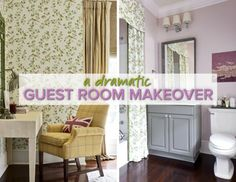 dramatic guest room makeover