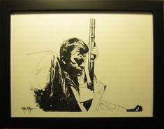 Punisher drawing by Tim Bradstreet Comic Art