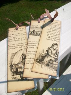 Vintage Little House on the Prairie Bookmarks (set of 3). $6.95, via Etsy.