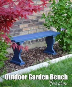 Cute Little Outdoor Garden Bench Only Costs About 13 To Build And Uses One 2x12