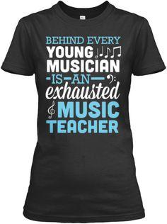 Exhausted Music Teacher