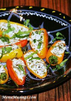Herbed Goat Cheese Stuffed Mini-Peppers