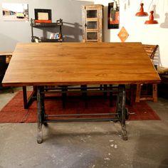 Industrial Schreib-Esstisch   Wood Factory - Vintage Industrial Shabby Chic