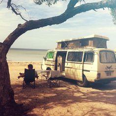 Australia - Roadtrip Streaky bay #henkthevan #australianroadtrip #streakybay #vanlife #nissanurvan #campervan