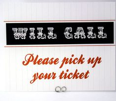 Will Call Sign  Baseball Football or Sports Wedding Place Card Table Sign by Bellus Designs on Etsy, $25.00 wedding place cards, sports wedding place cards #wedding #weddings