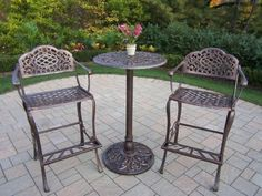 Chateau Living Mississippi 3 Piece Bar Set   Antique Bronze