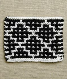 Mosaic Blanket (The Purl Bee) Slip Stitch Knitting, Knitting Stitches, Knitting Patterns Free, Free Knitting, Stitch Patterns, Crochet Patterns, Purl Bee, Mosaic Knitting, Loom Knitting Projects