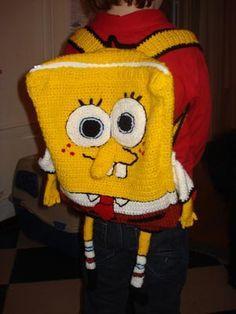 Crochet Spongebob backpack