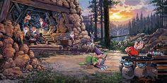 """Where a Million Diamonds Shine"" by Rodel Gonzalez | Disney Fine Art | Disney's Snow White and the Seven Dwarfs"