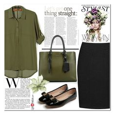 """Army green"" by nerma10 ❤ liked on Polyvore featuring KAROLINA and Prada"