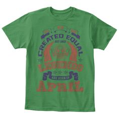 Born In April   Kids/Child/Boys T Shirt Kelly Green  T-Shirt Front