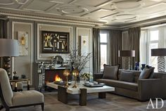 Room by designer, Jean-Louis Deniot, in Architectural Digest. Photo by Miguel Flores-Vianna. www.deniot.com