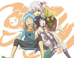 Death the girl *instead of Death the Kid Black Star Soul Eater Evans umm maybe