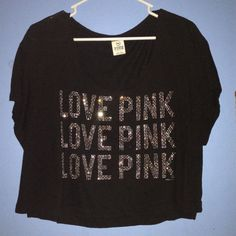 Victoria's Secret Pink shirt Vs pink shirt in size Medium only used once & in good condition! PINK Victoria's Secret Tops