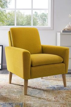Pantone Sunshine Home Decor 2021 Sunshine Homes, Colourful Living Room, Brown Couch, Design Your Home, Nursery Inspiration, Chair Design, Love Seat, Armchair, Room Decor