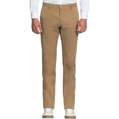 Faconnable Faconnable Men's Twill Stretch Flat Front Trousers -... ($129) ❤ liked on Polyvore featuring men's fashion, men's clothing, men's pants and men's casual pants