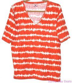 Jones New York Sport Shirt T-Shirt Tee Tie Dye Knit Short Sleeve Top Plus 1X  #JonesNewYork #BasicTee
