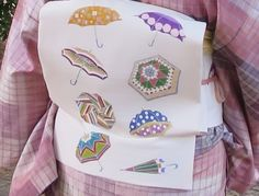 腰原きもの工房のパラソルの染め帯にkohaの蓮文様の晴雨兼用傘 の画像 きもの カンタービレ♪