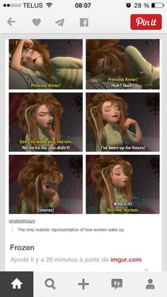Having troubl waking up in the morning. Anna is the perfect representation | Frozen