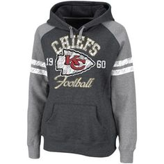 Kansas City Chiefs Ladies Charcoal Huddle Pullover Hoodie Sweatshirt...holy  cheese balls I bd9f05786a81