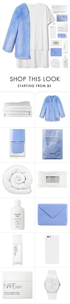 """""""YOU GET READY, YOU GET ALL DRESSED UP"""" by feels-like-snow-in-september ❤ liked on Polyvore featuring Frette, THP, Nails Inc., Brinkhaus, Stila, Fresh, Acne Studios, NARS Cosmetics and Swatch"""