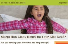 Are your kids getting enough sleep?  Follow the link below to read about the importance of sleep for children.  The dentists and staff at Colorado Kids Pediatric Dentistry want your kids to be at their best - to their health!