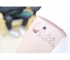 Tattooist: Banul from Seoul, Korea. Subject: Moomin Family