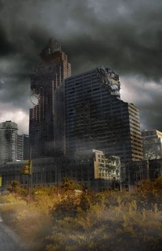 Matte Painting: Create A Distressed Surreal Cityscape Post Apocalypse, Matte Painting, City Art, Fantasy, Post Apocalyptic City, End Of The World, Photoshop Tutorial, Photoshop Actions, Photo Manipulation