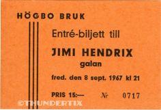 1 1968 JIMI HENDRIX VINTAGE UNUSED FULL CONCERT TICKET WHITE PLNS laminated rpro