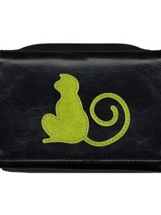Designed by LAVISHY, made with durable vegan/faux leather and decorated with adorable funky monkey applique on the front cover, this small wallet fits perfectly on your palm and is super fun and functional!It has:- 1 photo ID pocket,- 5 card slots,- 1 zipper around coin purse at the back,- Free LAVISHY gift box with purchase,- Free LAVISHY gift box with purchase.- 8 x 11 x 3cm / 3.25 x 4.25 x 1.25in.