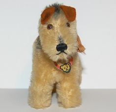 Vintage Steiff Terry the Terrier~ Terri Lee~Ginny~1950's~Airedale~Mohair~Bell