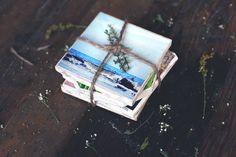 DIY Reversible Instagram Coasters | Free People Blog #freepeople