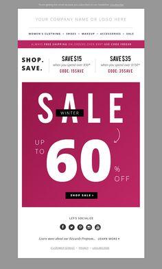 4 Mini Sales E-mail Newsletter Template PSD - E-commerce ...