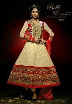 Semi-Stitched Anarkali Suit with 50plus height