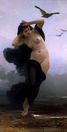Nyx -- Primordial goddess of the night   William-Adolphe Bouguereau (1825-1905) - La Nuit (1883).jpg