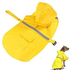 Fashionclubs Pet Dog Waterproof Raincoat Rainwear Clothes With Reflective Stripe For Small And Medium Dogs *** Read more  at the image link. (This is an affiliate link and I receive a commission for the sales)