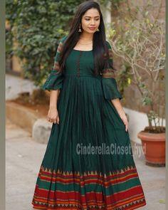Long Dress Design, Dress Neck Designs, Designs For Dresses, Cotton Saree Designs, Lehenga Designs, Long Gown Dress, The Dress, Saree Dress, Long Frock