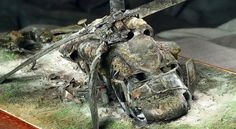 Dioramas...especially crash scenes such as this one...are the perfect showcase for the skill of true master modelers.