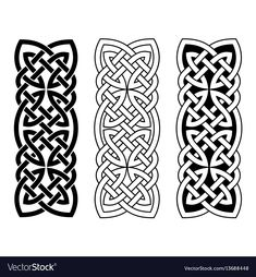 Black ornament isolated on white background. - Buy this stock vector and explore similar vectors at Adobe Stock Celtic Band Tattoo, Viking Tattoo Symbol, Celtic Tattoos, Celtic Symbols, Celtic Art, Viking Knotwork, Viking Ornament, Gravure Metal, Celtic Border