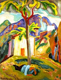 The Athenaeum - Ste Agnès, South of France (Roger Fry - 1915)