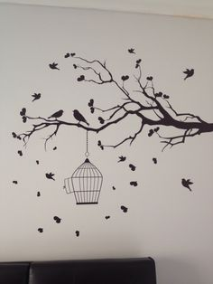 I love my new wall decal. The leaves and birds were all added separately and it was great fun applying them.