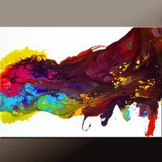Dank u voor uw interesse in mijn kunst. Dit is een originele kunst van de abstracte hedendaagse canvas schilderij van wereld verzamelde kunstenaar Destiny Womack aka dWo  Schilderij is klaar voor schip en is het exacte schilderij dat u ontvangt. Het wordt binnen 1-2 dagen van uw bestelling verzonden. Wij bieden cadeau verzendservice voor gemakkelijk cadeau geven. Geef u enkel schip naar informatie bij de kassa  DETAILS: Titel::: Rainbow dromen Size::::: 36 x 24 Medium::: acryl Canvas…