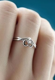 2016 new popular heart promise ring in sterling silver and cubic zirconia